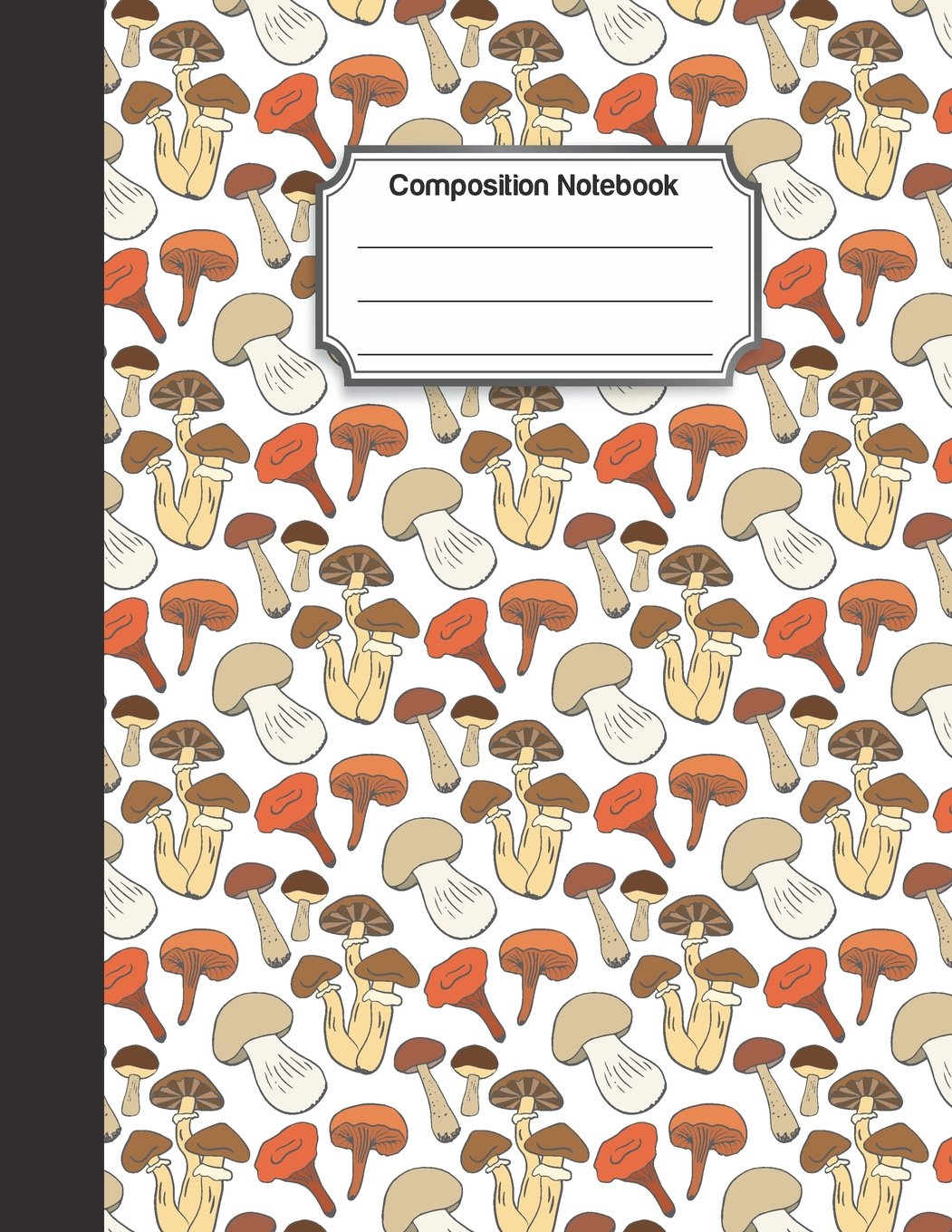 Download Composition Notebook: Brown red mushroom doodle color pattern : College Ruled School Notebooks, Composition Notebook, Subject Daily Journal Notebook : 120 Lined Pages (Large, 8.5 x 11 in.) ebook