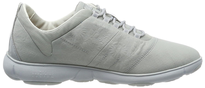 Geox Damen D Nebula A Niedrig-Top Sneakers Sneakers Sneakers mit herausnehmender Ledersohle und atmungsaktiver Nebula-Technologie Grau (Azure) ad08bd