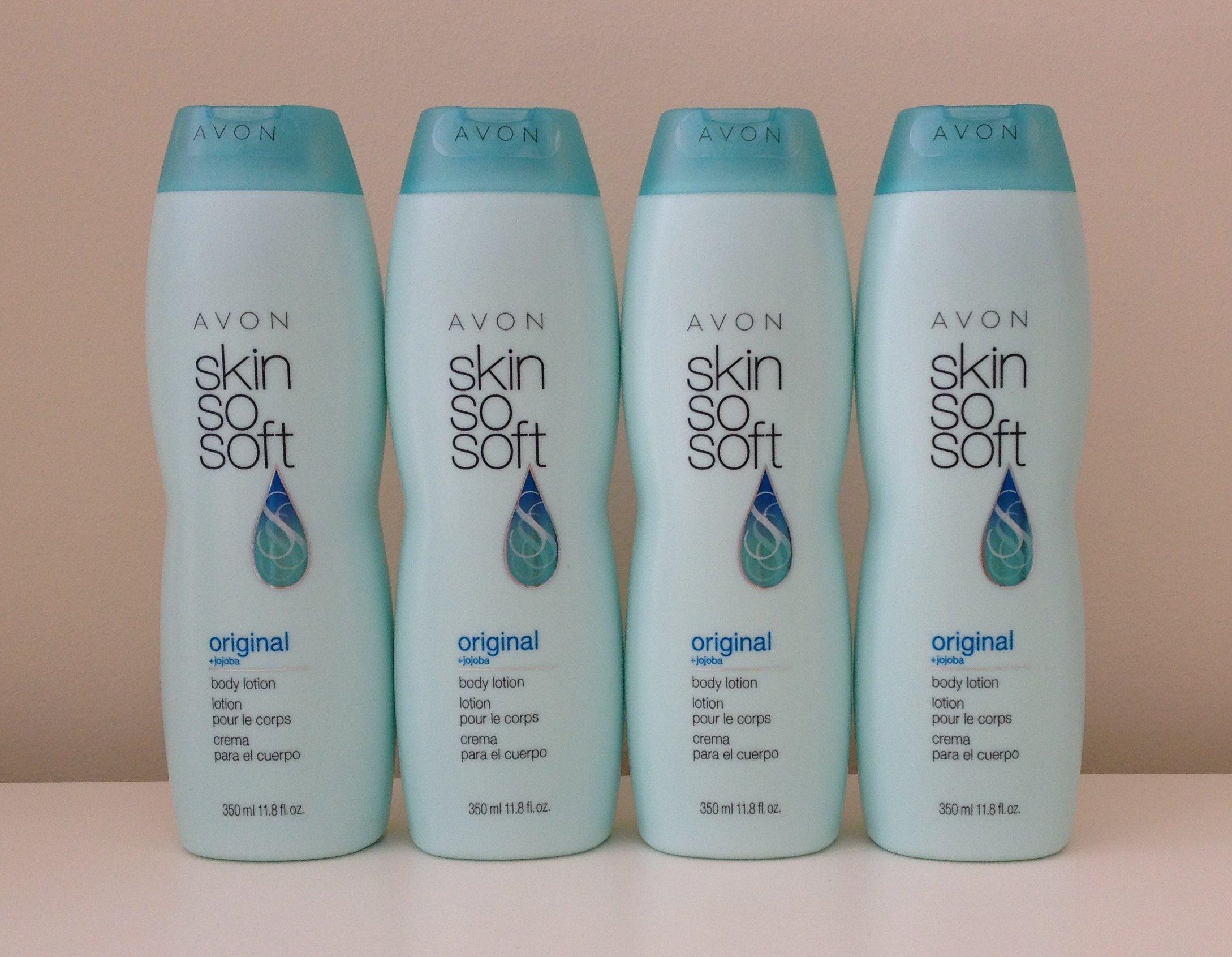 Lot of 4 Avon Skin So Soft Original Body Lotion 11.8 oz. Each. by Skin so soft