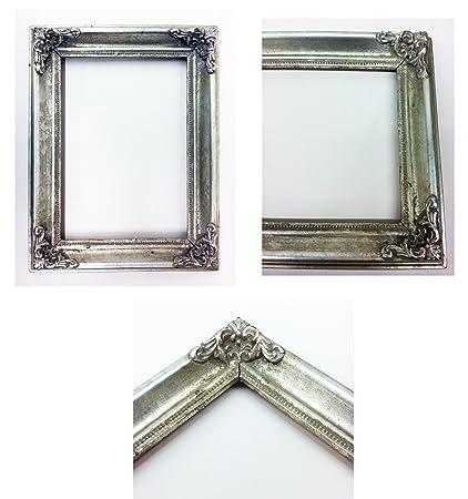Amazon.com - Vintage Picture Frame Ornate Metallic Baroque Wooden ...