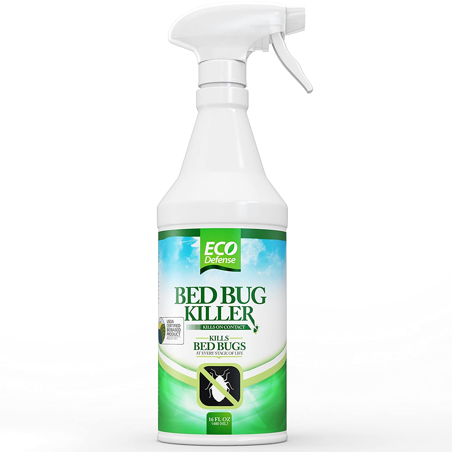 Eco Defense Bed Bug Killer, Natural Organic Formula Fastest, 16 oz