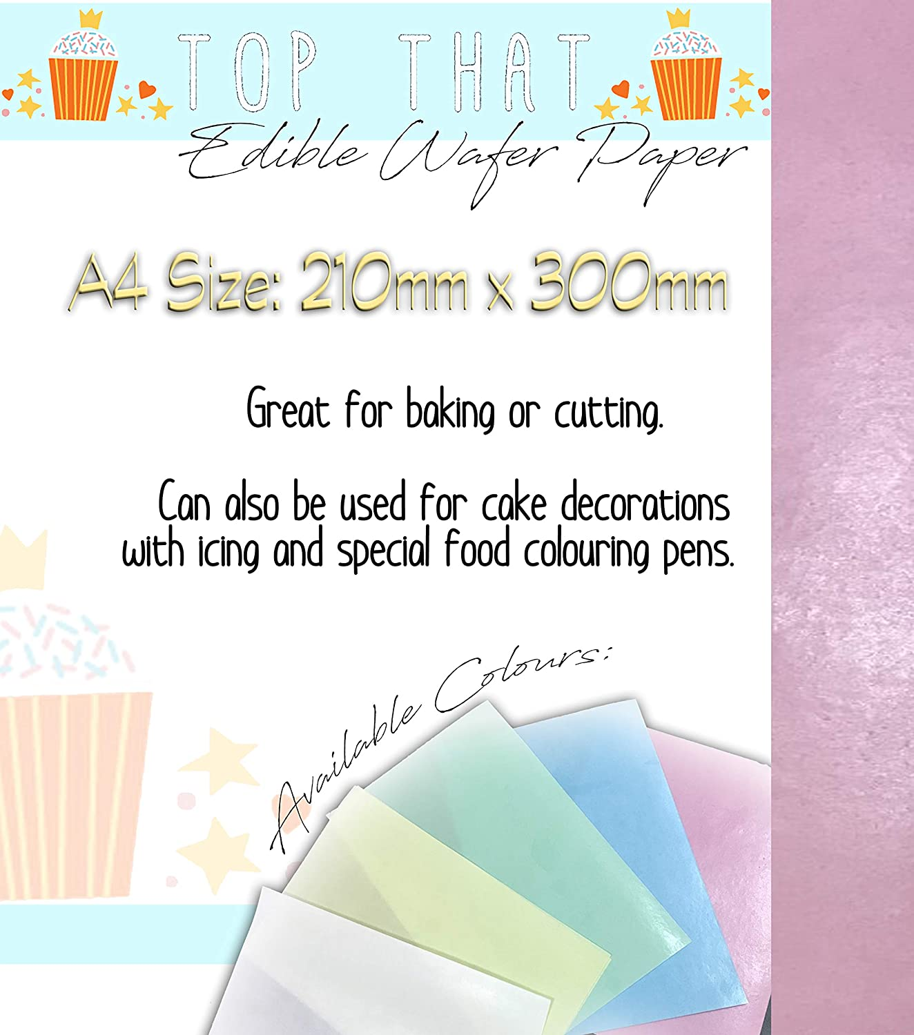 photograph about Printable Cake Paper referred to as 12 Sheets of Crimson Edible Wafer Paper for Baking Chopping Printing Cake Decorating