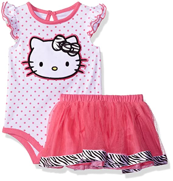 8ca8dc0e5 Amazon.com  Hello Kitty Baby Girls  Bodysuit and Tutu Set  Clothing