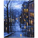 Lin-A-Lex DIY Paint by Numbers for Adults and Kids, Canvas Oil Painting Kit for Beginners, 16 x 20 Inch, Arts and Craft for H
