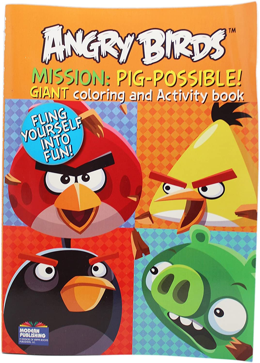 - Amazon.com: Rovio Angry Birds Mission: Pig-Possible Kids Coloring