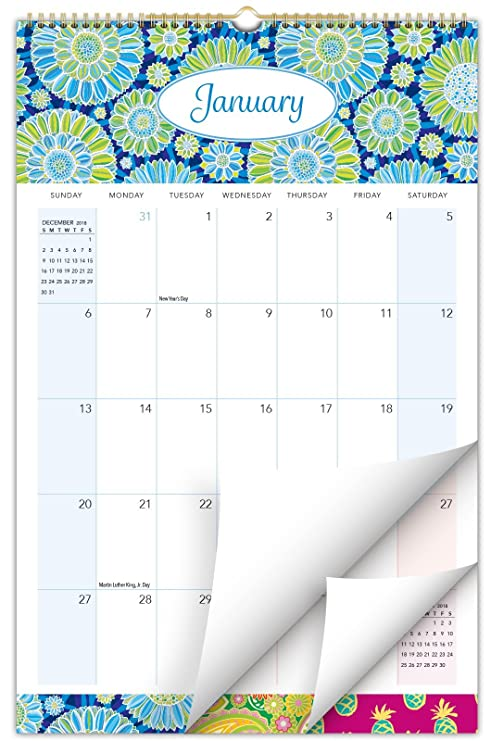 Calendario Moda 2020.2019 2020 Calendario De Pared Para Ano Academico 11 X 17