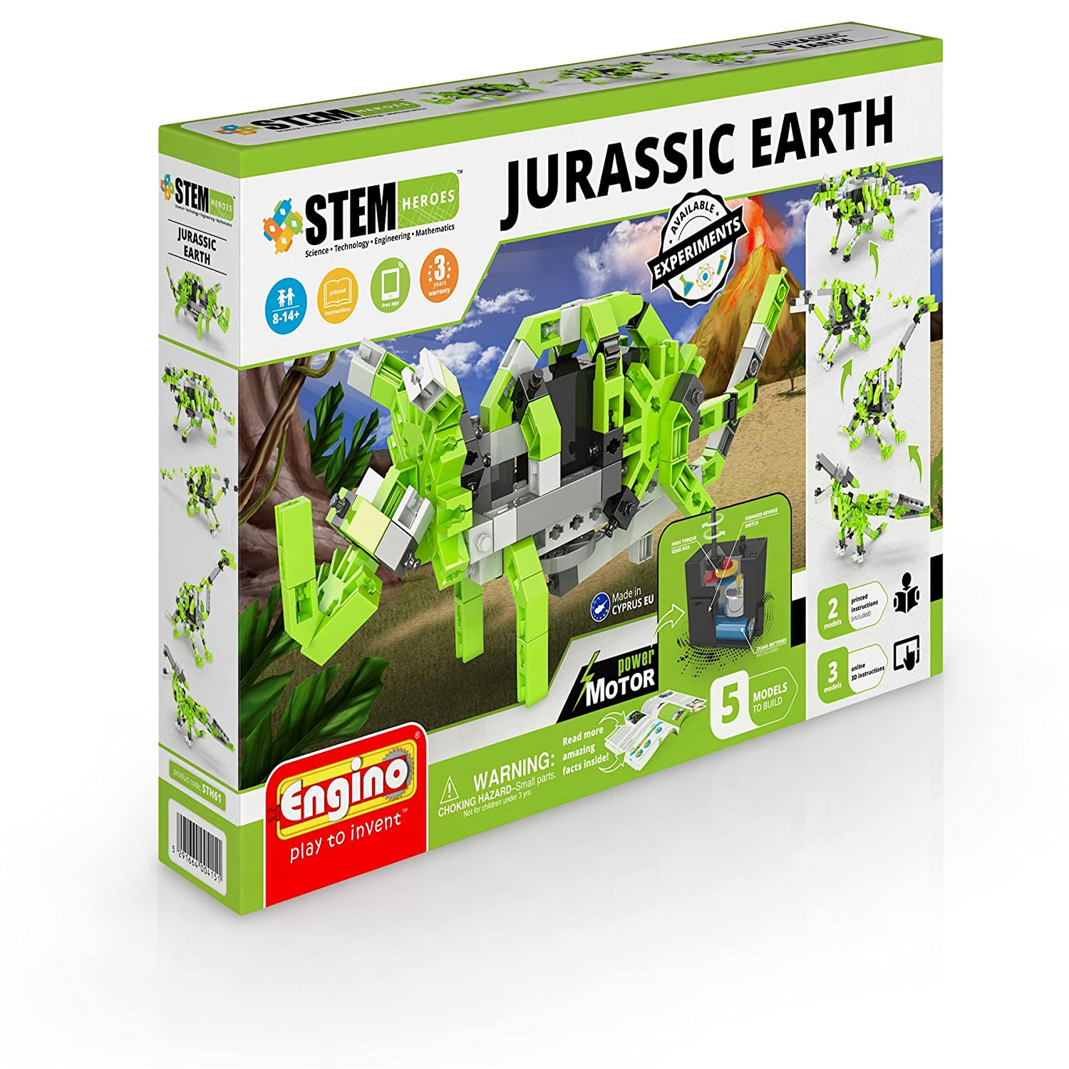 Engino STH61 Jurassic Earth Motorized Models Construction System Toy ENGSTEM42