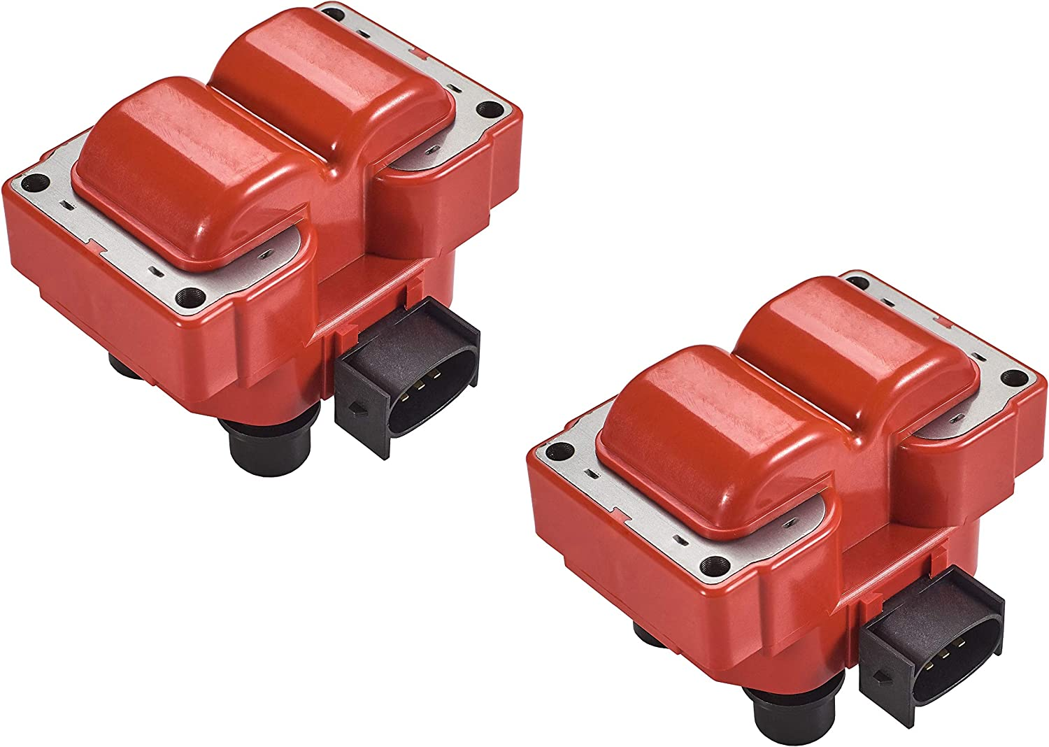 ENA Set of 2 Direct Ignition Coil Pack compatible with 1992-1999 Ford Crown Victoria F150 F250 Explorer Expedition Mustang Van Lincoln Mercury L4 V8 4.6L 5.0L