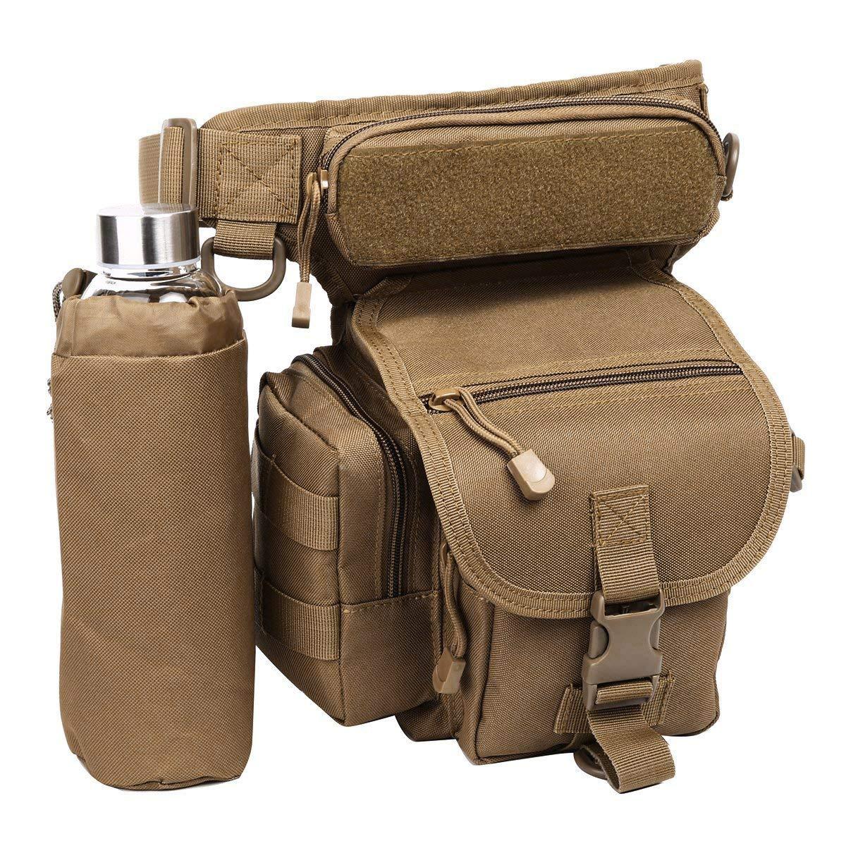 Eshow Men's Drop Leg Pouch Tools Bags Tactical Leg Bag Purse Fanny Pack Thigh Bags Bike Cycling Hip Bag Canvas Eshow-BFT000201