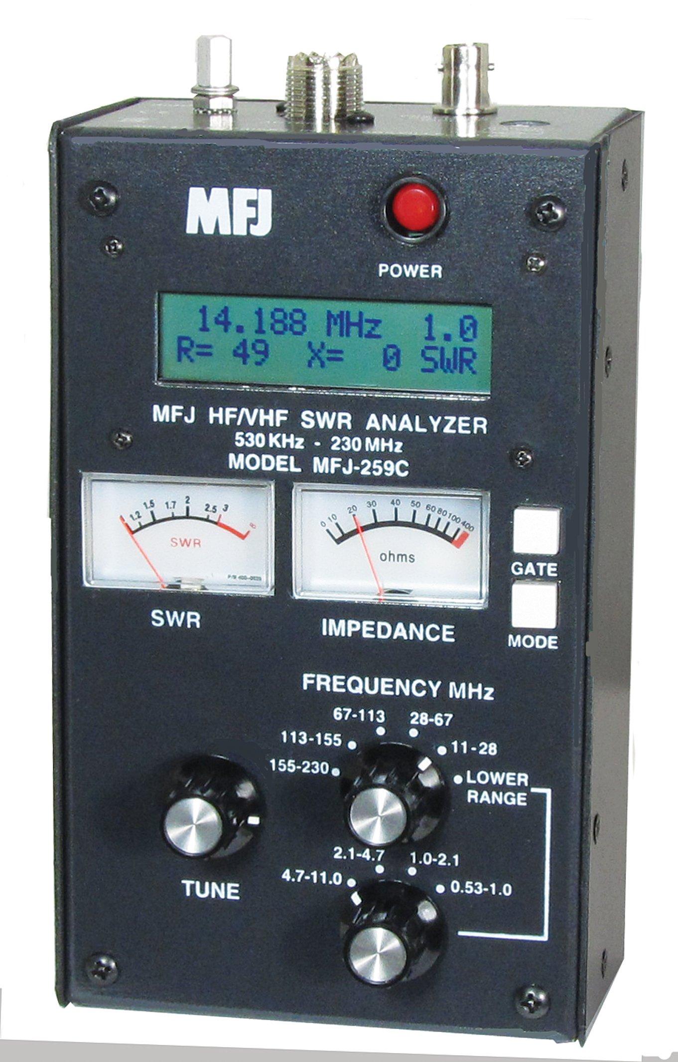 SWR Antenna Analyzer MFJ-259C HF VHF 0.53-230Mhz by MFJ