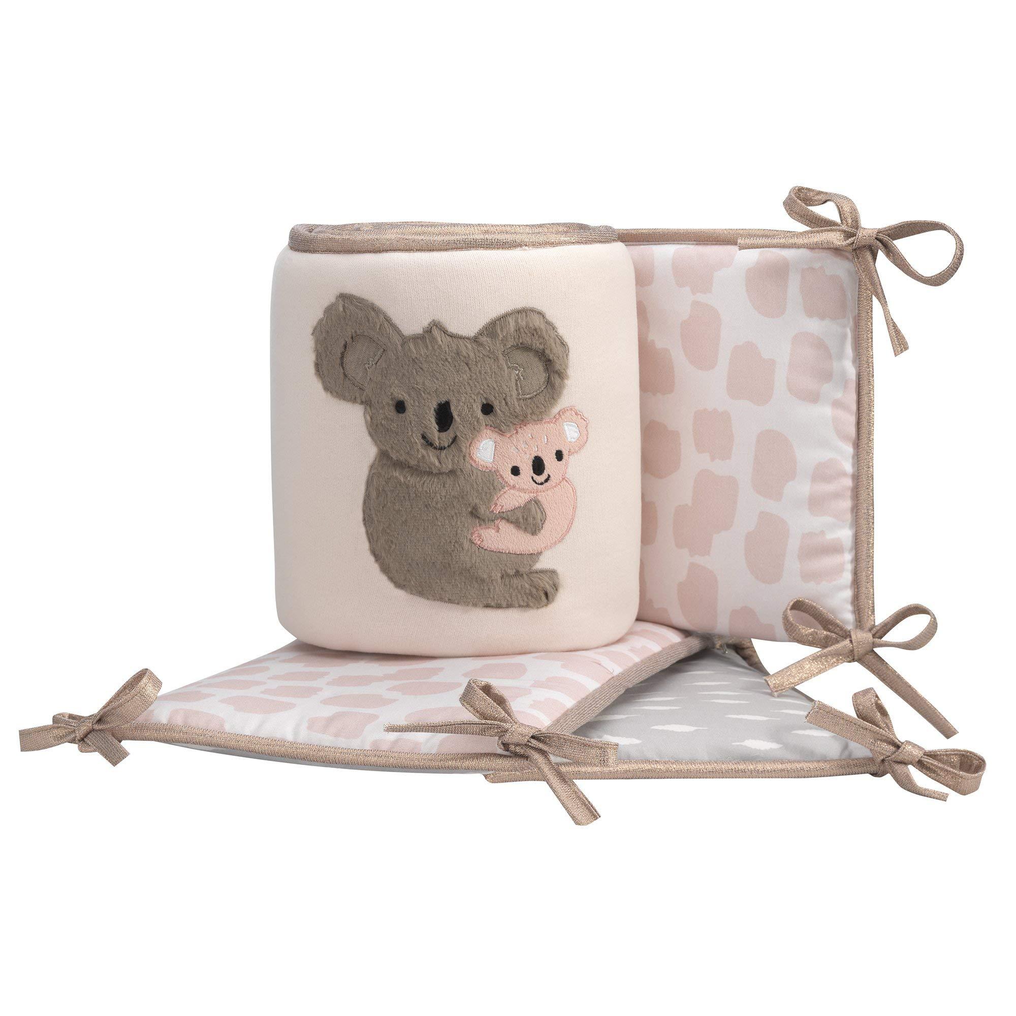 Lambs & Ivy Calypso Pink/Gray/White Koala 4-Piece Baby Crib Bumper by Lambs & Ivy