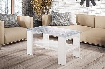 Endo Couchtisch Kenya Wohnzimmertisch Tisch Crashglas 100x60cm