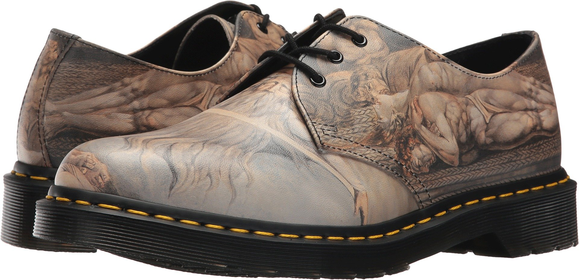Dr. Martens Unisex 1461 3-Eye Shoe White Backhand/William Blake 5 M UK by Dr. Martens