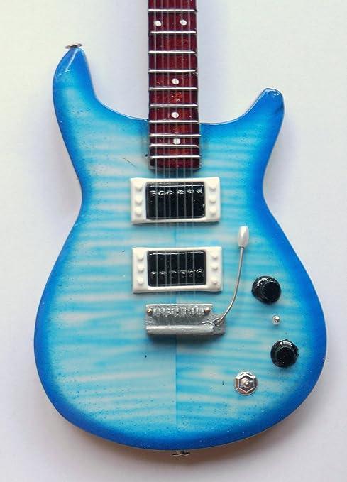 Guitarra en miniatura decorativa guitarra PRS -Trem CB 25 cm hecho ...