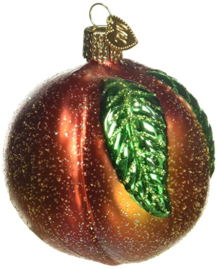 old world christmas ornaments peach glass blown ornaments for christmas tree