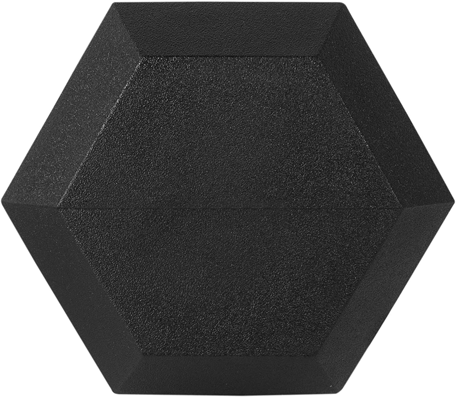 Single CAP Barbell Rubber Coated Hex Dumbbell with Contoured Chrome Handle