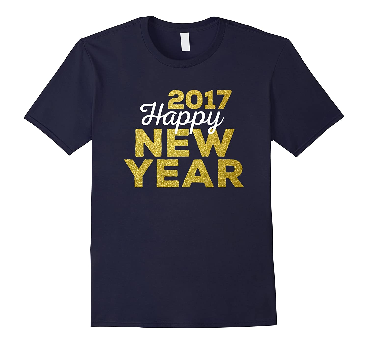 2017 Happy New Year Gold Look T-Shirt | Relaxed Fit-CL