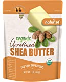 Naturise Shea Butter Raw Organic Unrefined Ivory 16 oz (1 LB), Highest Grade African Shea Butter, Great for DIY Skincare…