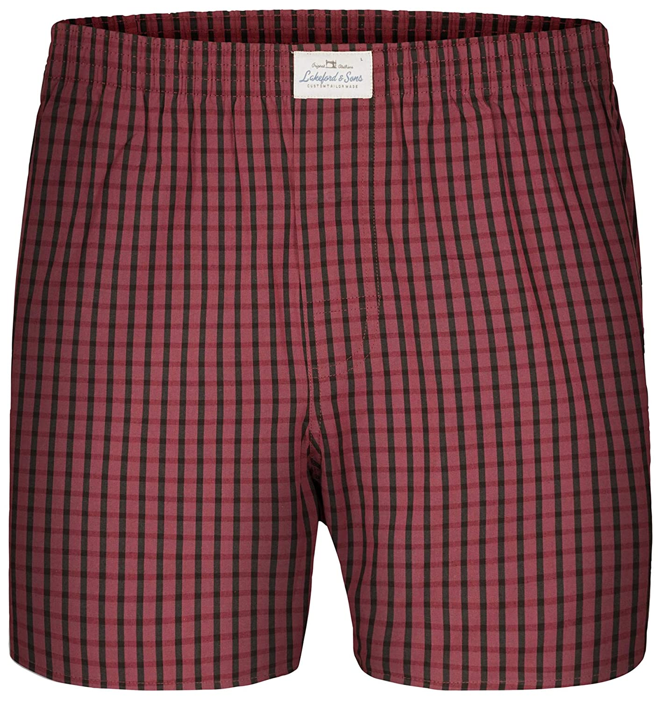 Lakeford /& Sons 100/% Cotone 3-Pack Boxer da Uomo Rosso//Blu//Grigio 5 2000-1628-M 50 Taglia M