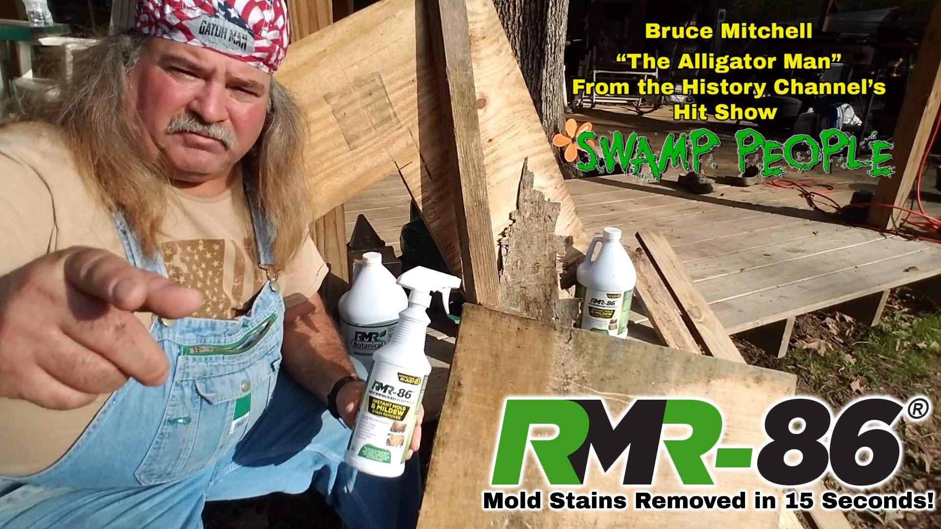 RMR-86 Instant Mold Stain and Mildew Stain Remover Plus Mold Stain Blocker (1 Gallon) (Renewed) by RMR Brands (Image #3)