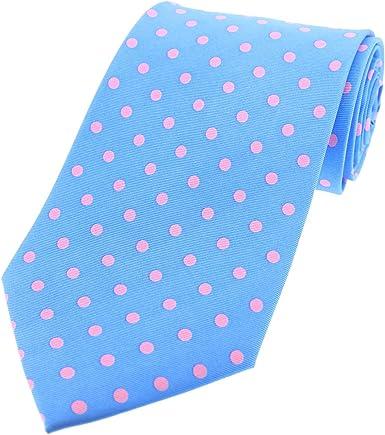 Soprano Vintage cielo Azul y rosa diseño de lunares de seda ...