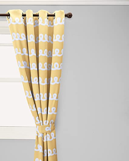 Best Home Fashion Room Darkening Doodle Print Curtains