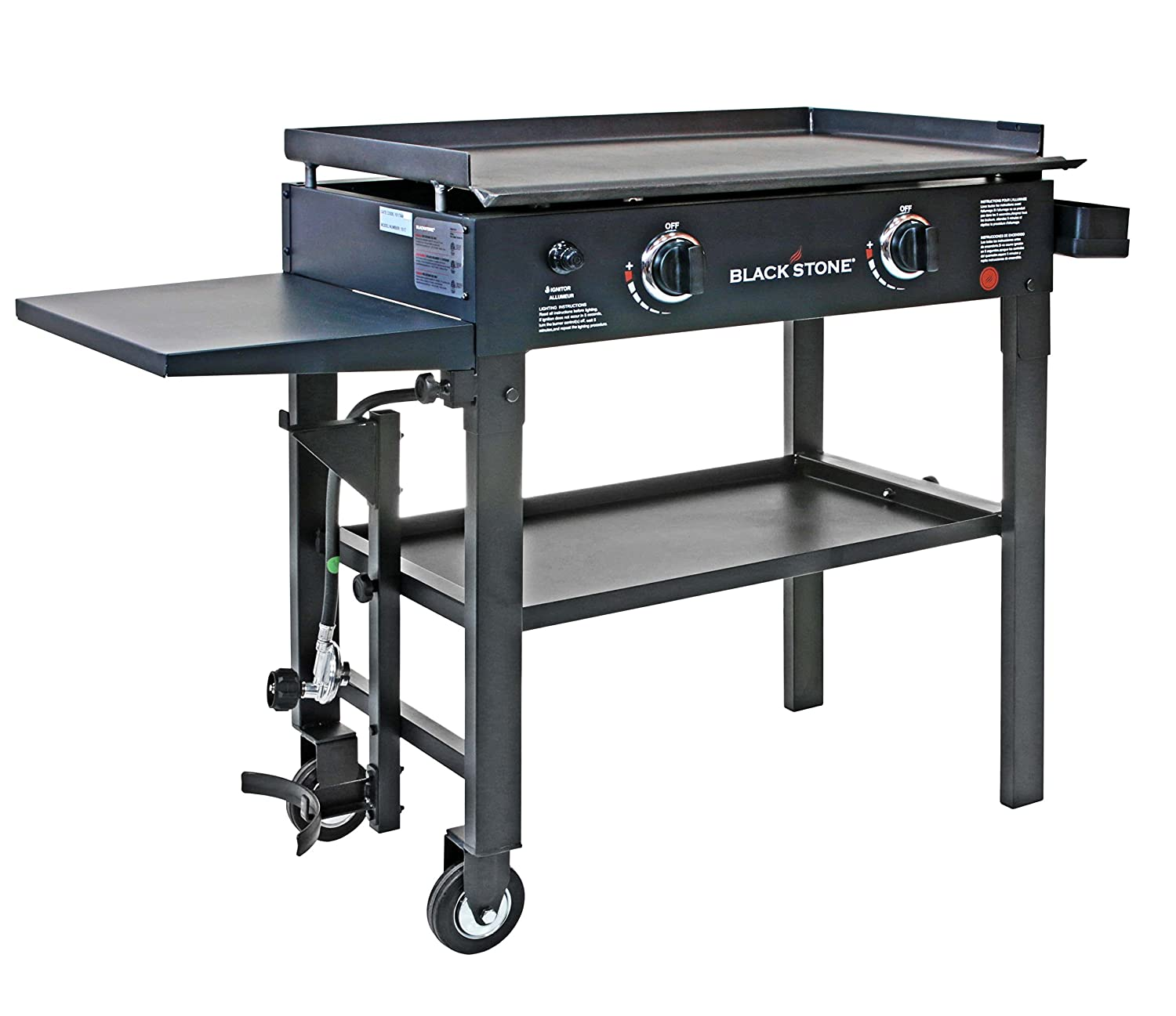 Amazon.com : Blackstone 28 Inch Outdoor Flat Top Gas Grill Griddle Station    2 Burner   Propane Fueled   Restaurant Grade   Professional Quality :  Outdoor ...