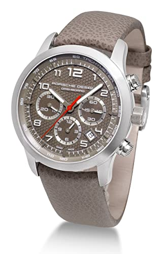 Porsche Design Dashboard 661211941191 - Reloj cronógrafo automático para hombre, correa de cuero color marrón