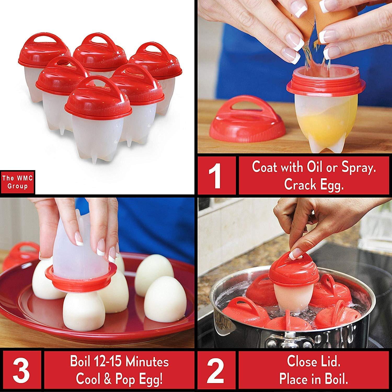 LOVEQIZI Juego Premium de Copas de Huevo - Huevos cocidos ...
