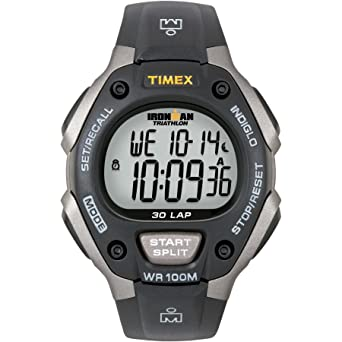 ee11e47486ad Amazon.com  Timex Men s T5E901 Ironman Classic 30 Gray Black Resin ...