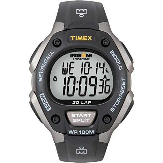 5c50201a23ba Amazon.com  Timex Men s T5E901 Ironman Classic 30 Gray Black Resin Strap  Watch  Timex  Watches