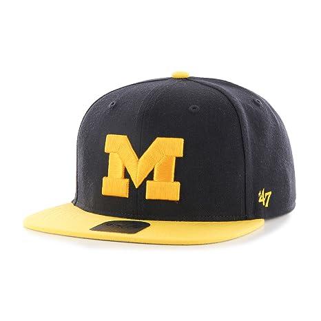 0ba074ebf7c Amazon.com    47 NCAA Michigan Wolverines Sure Shot Two Tone Captain ...