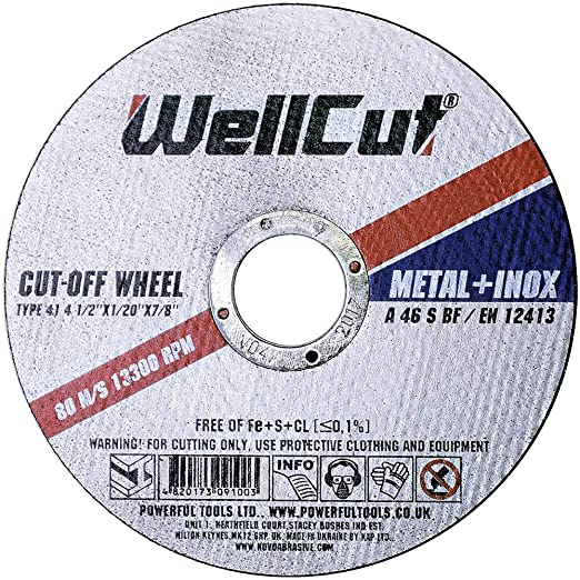 WELLCUT WCM23032 - Disco de corte (acero inoxidable, 230 mm ...