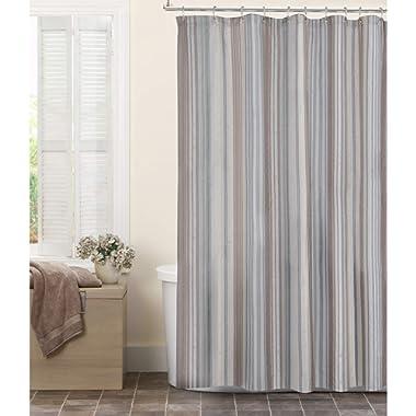 MAYTEX Jodie Chenille Striped Fabric Shower Curtain 72X72