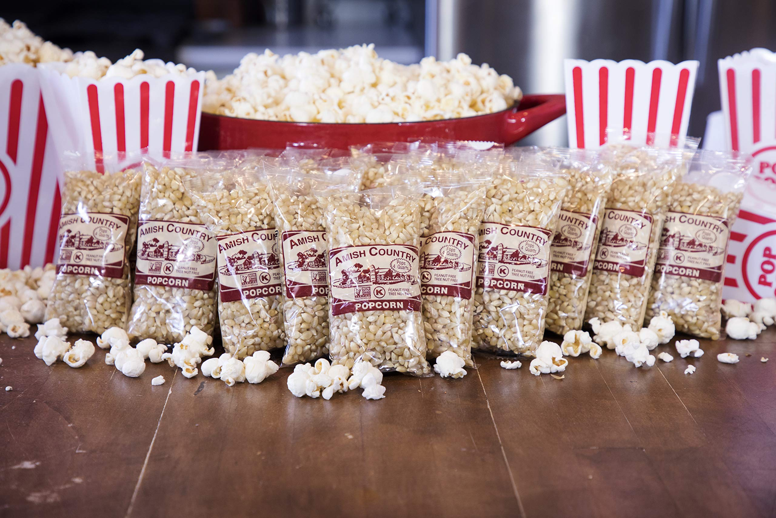 Amish Country Popcorn - Old Fashioned Baby White - (4 Ounce - 24 Bags) - Small & Tender Popcorn - With Recipe Guide by Amish Country Popcorn (Image #3)