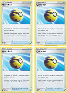 product image for Pokemon Card - Quick Ball - Sword and Shield Base - x4 Card Lot Playset - 179/202 Uncommon