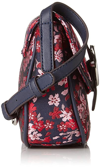 Tamaris Damen Amanda Crossbody Bag Umhängetasche, Blau (Navy