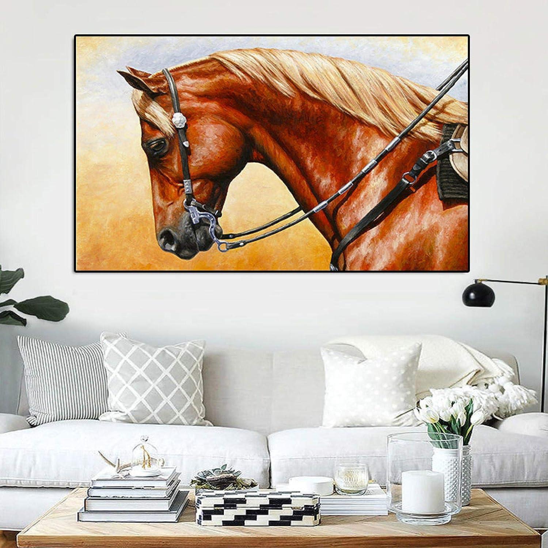 Pintura al óleo Póster pintura en lienzo impresiones de animales nórdicos pintura al óleo caballo corriendo cuadros artísticos de pared para sala de estar Cuadros decoración del hogar 60x90cm