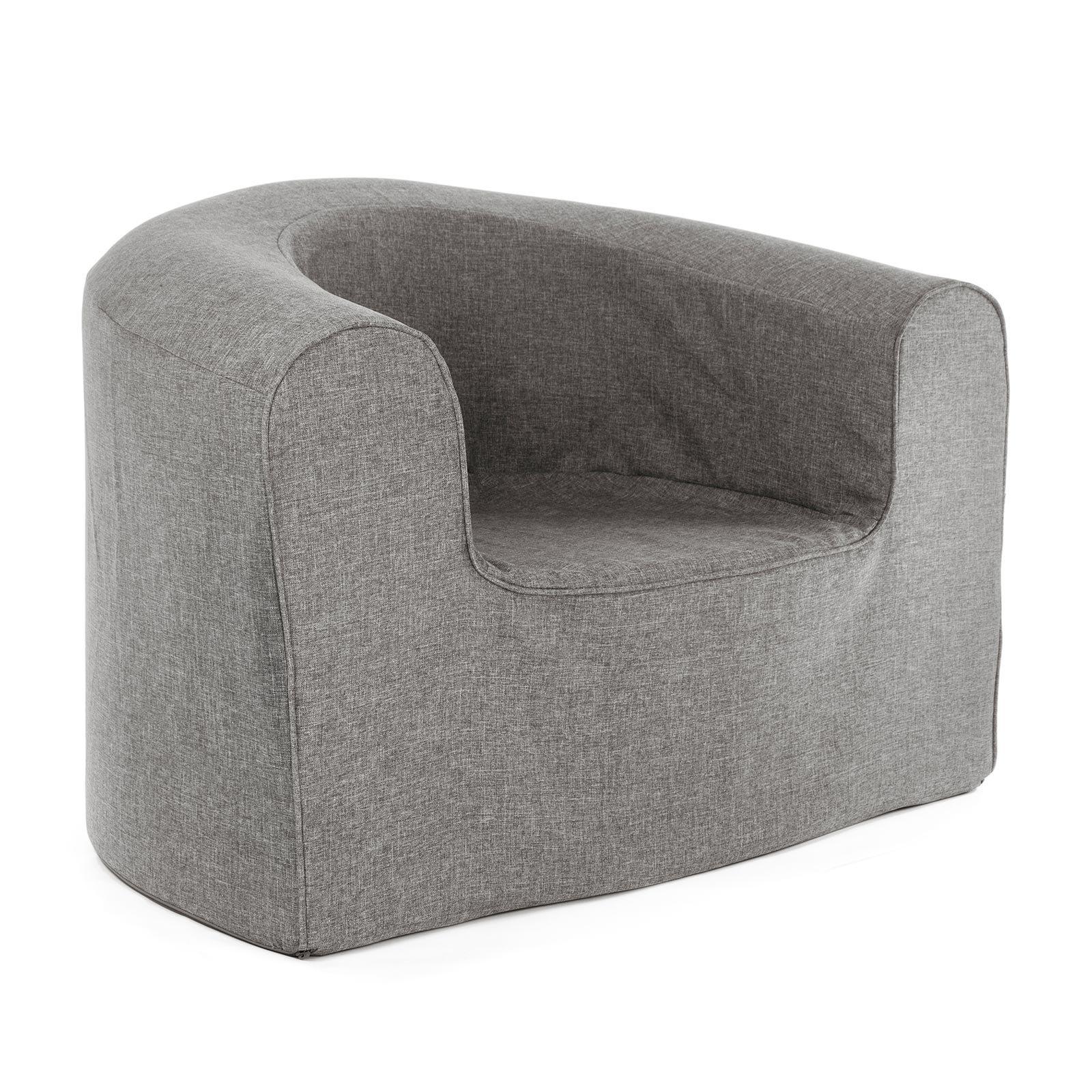 PopLounge Expandable Foam Furniture Armchair, Steeple Gray, 35'' x 28'' x 26''