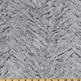 Shannon Minky Frosted Zebra Cuddle Gray Fabric By The Yard