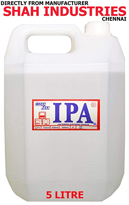 CLEANMAX IPA 99% ISOPROPYL Alcohol (E-Grade) 5L to Clean  Mobiles/Laptops/LCD Monitors & Electronic Boards - Electronic Services  (1)