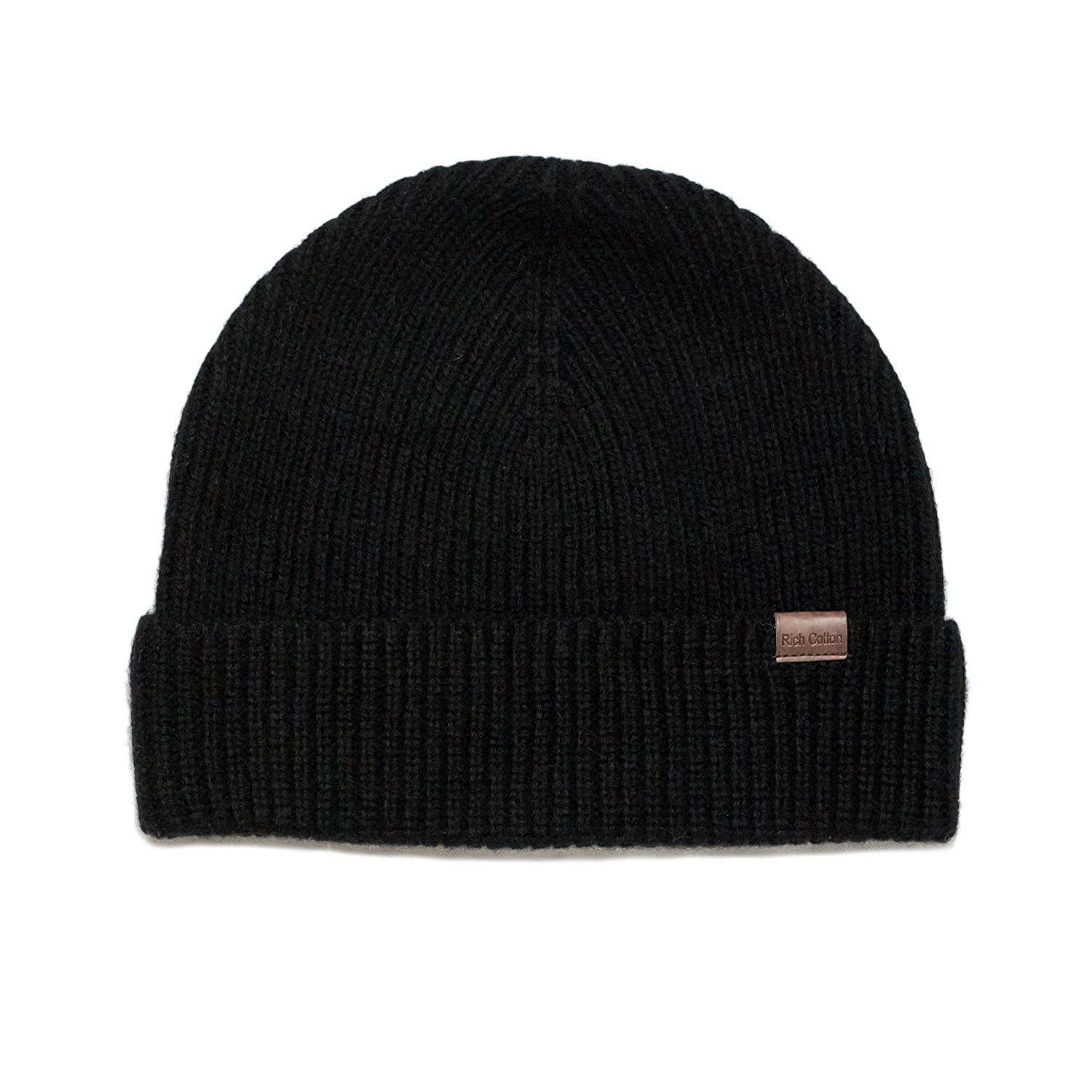 f8ccfa4a8374fc Rich Cotton Beanie (Black) at Amazon Men's Clothing store: