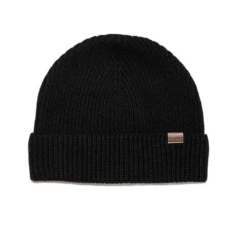 10751336 Rich Cotton Beanie (Black) at Amazon Men's Clothing store: