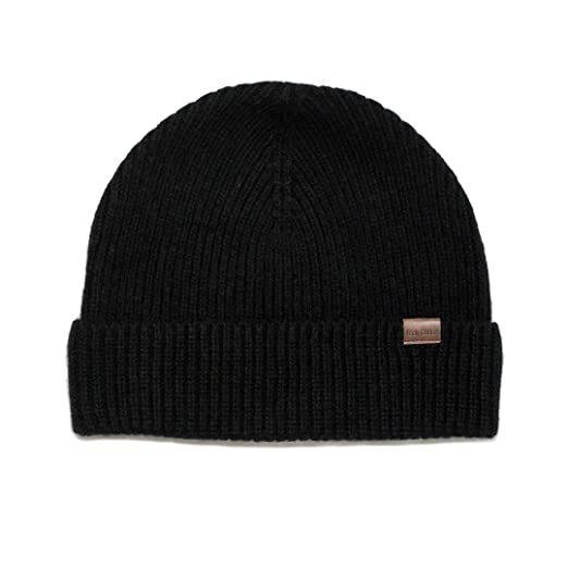 f58e8e68e59 Rich Cotton Beanie (Black) at Amazon Men s Clothing store