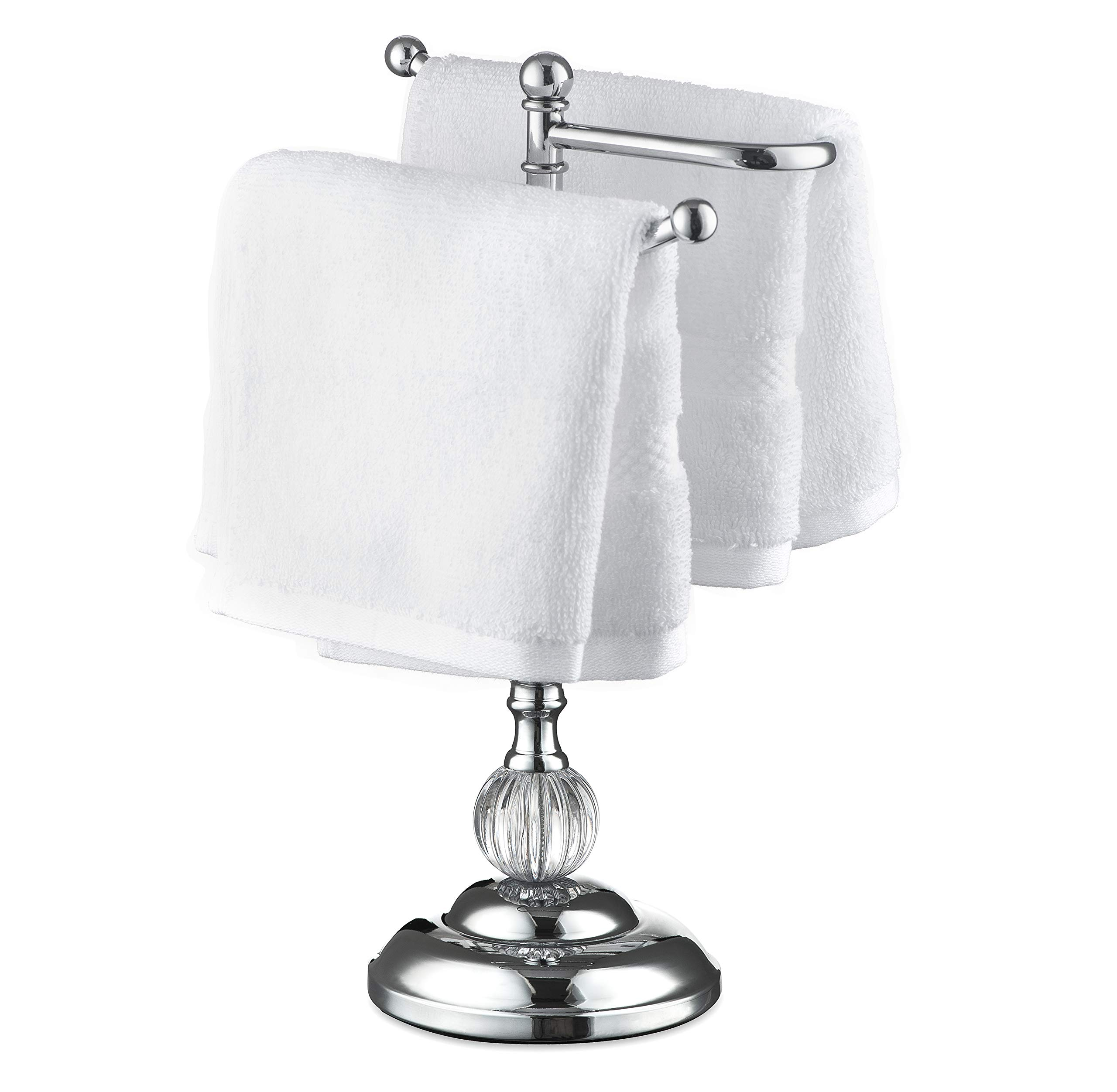 AMG and Enchante Accessories, Free Standing Fingertip Hand Towel Bar Holder Tree Rack, TT110A CHR, Chrome