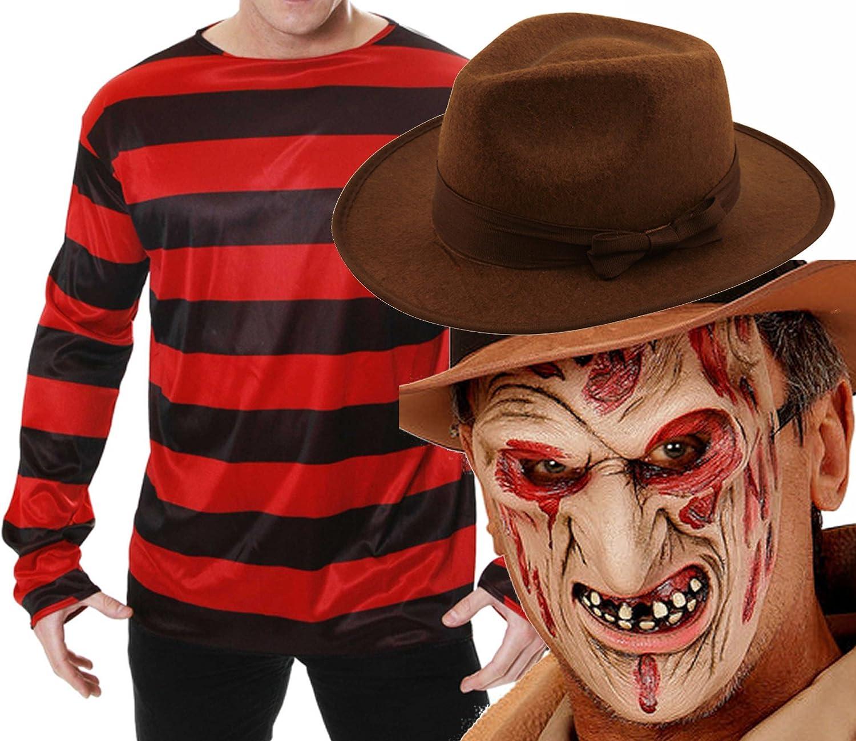 Disfraz de Freddy Krueger (incluye jersey, sombrero y máscara ...