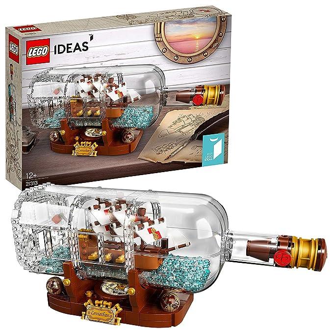 LEGO Ideas-Barco en una botella, set de construcción decorativo de ...