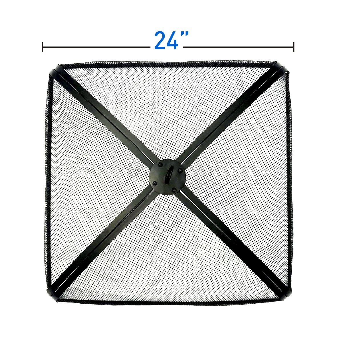EasyGoProducts EGP-FIRE-012 EasyGo 24'' Fire Square Pit Spark Screen Protector Cover, Firepit Lid
