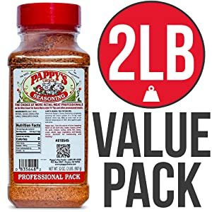 Pappy's Choice Seasonings - Original. Perfect for bbq and smoked brisket, steak, beef, chicken, fajita, hogs, rib, seafood, bagel, popcorn, jerk, pizza and more.