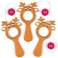Baker Ross AF834 Reindeer Bat & Ball, Assorted